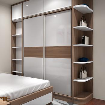 Tủ quần áo cửa lùa 2 khoang gỗ sồi IBIE SDR2O